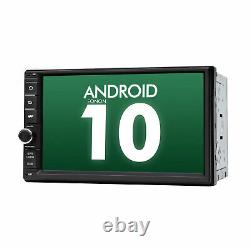 Double Din 7 Android 10 2GB RAM Car Stereo Radio GPS Navigation BT OBD2 2DIN W