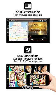 Double Din Car Stereo GPS Navigation Video Android 10 Wifi DAB AUX 2G+32G Camera