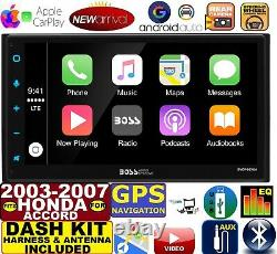 Fits/for 03-07 Honda Accord Cd/dvd Bluetooth Gps Navi Apple Carplay Android Auto