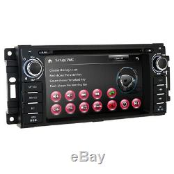 For CHRYSLER JEEP DODGE Double Din DVD CD GPS Navigation Bluetooth Radio Stereo