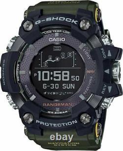 GPRB1000-1B Casio / G-Shock RANGEMAN, Solar Bluetooth, GPS Navigation Green