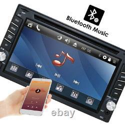 GPS Navigation 6.2'' Car Radio Stereo DVD Player Bluetooth USB/SD+ 8G Map+Camera