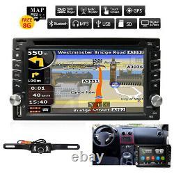 GPS Navigation+8GB Map Bluetooth Radio Double Din 6.2 Car Stereo DVD Player CD
