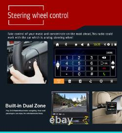 GPS Navigation Map 1DIN Car Stereo CD/DVD Player 7 FlipUp Radio Touch Screen SD