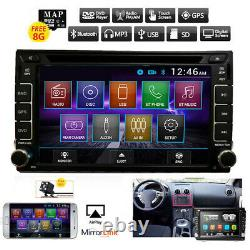 GPS Navigation With Map Bluetooth Radio Double Din 6.2 Car Stereo DVD Player BT
