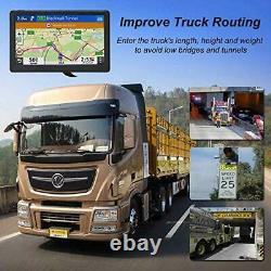 GPS Navigation for Truck RV Car (7 inch), with Bluetooth Calls, Free Map Updates
