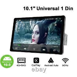 JOYING Single Din 10.1 Android 10.0 Car Stereo 4+64GB GPS Navigation FM Radio