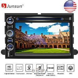 JUNSUN 7 Car Stereo Radio DVD Player Bluetooth GPS Navigation For FORD F150/500
