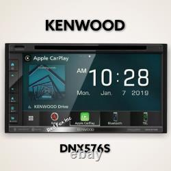 Kenwood Dnx576s 6.75 CD DVD Navigation Bluetooth Gps Car Stereo With MIC
