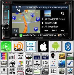Kenwood Excelon Double Din DVD GPS Navigation Carplay Bluetooth Garmin USB AUX