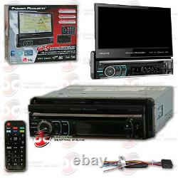 POWER ACOUSTIK PDN-721HB CAR 1-DIN 7 TOUCHCREEN DVD CD BLUETOOTH STEREO With GPS