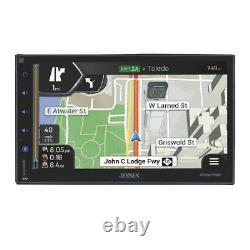 Plug-In Double DIN GPS Navigation Bluetooth Car Stereo Radio for GM Vehicles