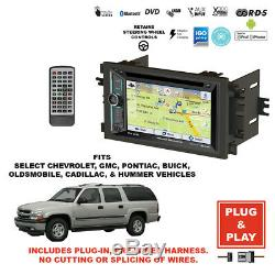 Plug-In GPS Navigation Bluetooth Double DIN CD Car Stereo Radio for Select GM