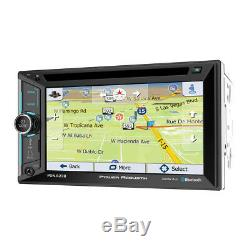 Power Acoustik PDN-623B Double 2 DIN CD/DVD Player 6.2 GPS Navigation Bluetooth