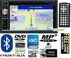 Power Acoustik PDN-626B DOUBLE 2 DIN Bluetooth CD/DVD Player 6.2 GPS Navigation