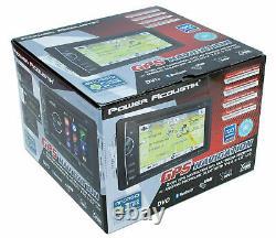 Power Acoustik Pdn-621hb 6.2 CD DVD Gps Bluetooth Usb Aux Navigation 300w Radio