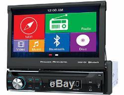 Power Acoustik Pdn-726b Car Dvd/cd Player 7 LCD Gps Navigation Bluetooth Usb