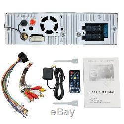 Single 1DIN 7HD Flip Up GPS Navigation Car Stereo DVD Player Headunit+Camera