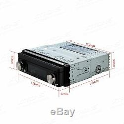 Single 1Din Car DVD Player 7 GPS Navigation In-dash HD Bluetooth Radio RDS AUX