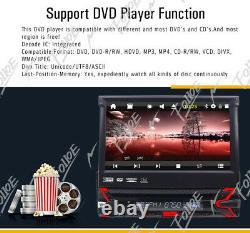 Single 1Din In Dash Car Stereo GPS Navigation 7 DVD Player Bluetooth Radio USB