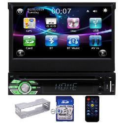 Single 1 Din Car Stereo with GPS Navigation Bluetooth Radio DVD player Head Unit