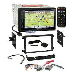 Soundstream DVD GPS Sirius Xm Stereo Dash Kit Harness for 92+ Chevy GMC Pontiac