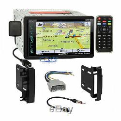 Soundstream GPS Sirius Stereo Dash Kit Harness for 2007-14 Chrysler Dodge Jeep