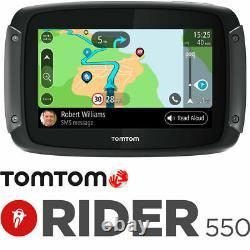 Tom Tom Tomtom Rider 550 World Motorcycle Sat Nav Gps Navigation