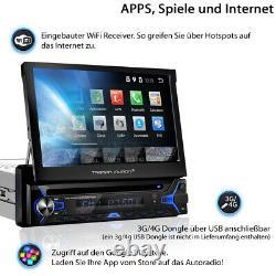 Tristan Auron Android Autoradio Navi mit Bluetooth Navigation USB GPS Bildschirm