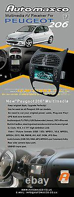 UNAVAILABLE- Peugeot 206 Touch screen GPS Navigation Bluetooth USB DVD