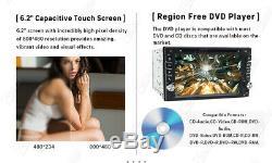 Windows 6.2 Double 2Din Car Stereo Radio CD DVD Player GPS Navigation Bluetooth